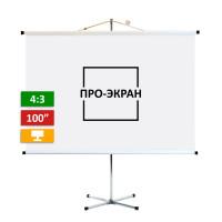 Экран на штативе ПРО-ЭКРАН 200 на 150 см (4:3), 100 дюймов