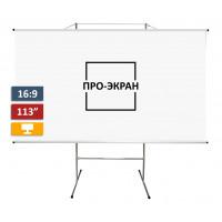 Экран на штативе ПРО-ЭКРАН 250 на 140 см (16:9), 113 дюймов